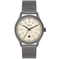 Tsovet Svt Rm40 White And Grey Mesh Strap Watch
