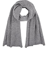 Barneys New York Women's Melange Cotton Blend Shawl Dark Grey