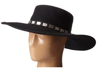 San Diego Hat Company Wfh8013 Floppy Brim With Silver Faux Leather Band Black Caps