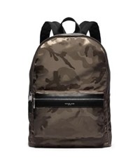 Michael Kors Kent Camouflage Nylon Jacquard Backpack Army