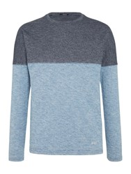 Denham Jeans Slice Long Sleeve T Shirt Indigo