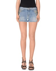 Hudson Denim Denim Shorts Women Blue