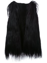 Scanlan Theodore Long Goat Hair Vest Black