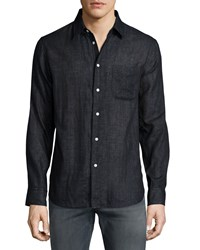 Rag And Bone Beach Long Sleeve Shirt Black