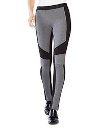 Bcbgmaxazria Jeremiah Color Block Leggings Gray Black