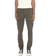 7 For All Mankind Cargo Jogger Regular Fit Tapered Cargo Trousers Army