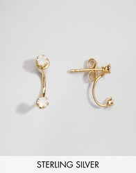 Asos Gold Plated Sterling Silver Mini Swing Earrings Gold