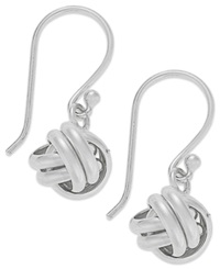 Giani Bernini Sterling Silver Earrings Love Knot Drop Earrings
