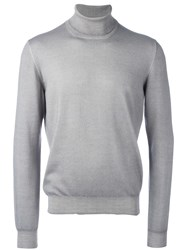 La Fileria For D'aniello Turtleneck Fine Knit Jumper Grey