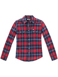 Lee Regular Western Check Shirt Primary Red