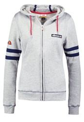 Ellesse Elda Tracksuit Top Grey Marl Mottled Grey