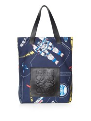 Loewe Galaxy Print Leather Handle Tote