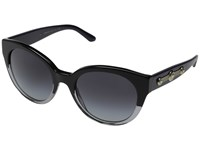 Versace Ve4294 Black Crystal Grey Gradient Fashion Sunglasses