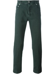 Kiton Slim Fit Jeans Green