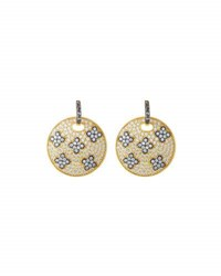 Freida Rothman Large Love Knot Shield Drop Earrings No Color