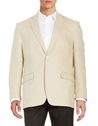 Lauren Ralph Lauren Two Button Linen Jacket Tan