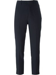 Dondup Front Pleat Cropped Trousers Blue