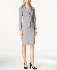 Le Suit Shawl Collar Skirt Suit Black Mult