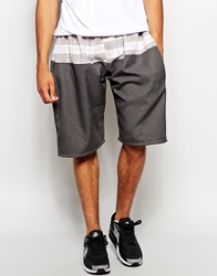 The Ragged Priest Shorts With Check Cut And Sew Grey