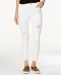 Vanilla Star Juniors' Ripped Skinny Jeans White Wash
