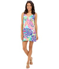 Lilly Pulitzer Lela Dress Multi Exotic Garden Women's Dress