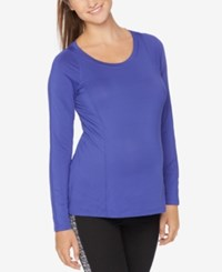 Motherhood Maternity Long Sleeve Tee Purple Tension