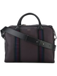Paul Smith Contrast Stripe Briefcase Brown