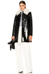 Proenza Schouler Mid Length Coat In Black