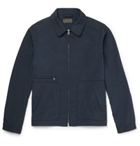 Beams Plus Shell Blouson Jacket Blue