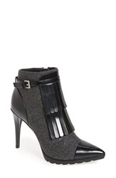 Calvin Klein Women's 'Makena' Pointy Toe Kiltie Bootie Charcoal Black Felt