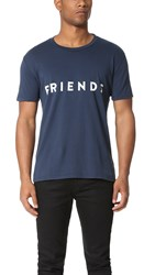 Quality Peoples Friends Amigos Tee Dark Navy