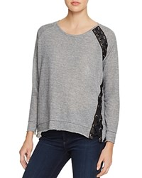 Generation Love Darcey Lace Up Pullover Heather Grey