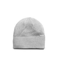 Michael Kors Metallic Knitted Hat Silver Grey