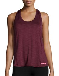 Betsey Johnson Lace Back Tank Divine Wine