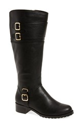 Bella Vita Women's 'Adriann Ii' Knee High Boot Black Faux Leather