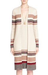 Women's St. John Collection 'Marrakech' Stripe Knit Cardigan