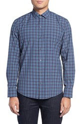 Zachary Prell Men's Trim Fit Plaid Sport Shirt