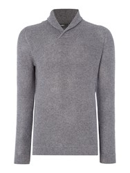 Jack And Jones Shawl Neck Knitted Jumper Grey