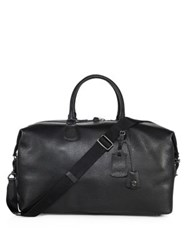 Coach Textured Leather Duffel Bag Black