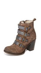 Freebird Banjo Buckle Booties Grey