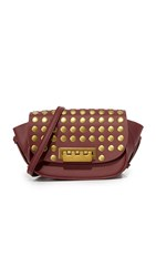 Zac Posen Stud Eartha Small Saddle Bag Cardinal
