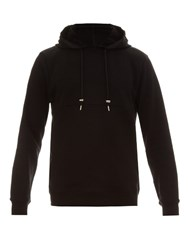 Raf Simons Long Sleeved Cotton Jersey Hooded Sweatshirt Black Multi