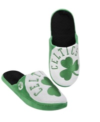 Forever Collectibles Men's Boston Celtics Big Logo Slippers Green Black