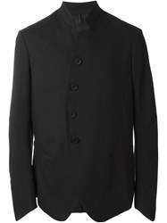 Masnada Stand Up Collar Buttoned Jacket Black