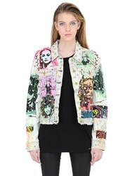 Patricia Field Art Fashion Tom Tom Queen Of The Night Denim Jacket