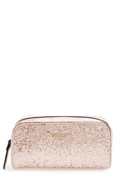 Kate Spade 'Glitter Bug Ezra' Cosmetics Case Rose