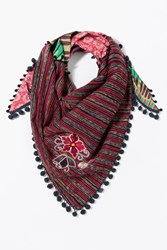 Desigual Triangle Cleo Foulard Red