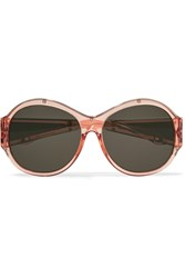 Givenchy Round Frame Acetate And Metal Sunglasses Pink