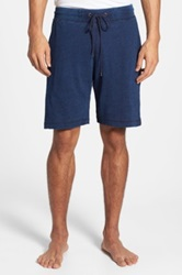 Daniel Buchler Cotton Lounge Shorts Blue