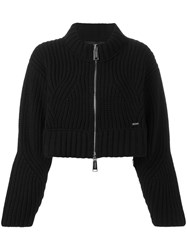 Dsquared2 Cropped Oversize Cardigan Black